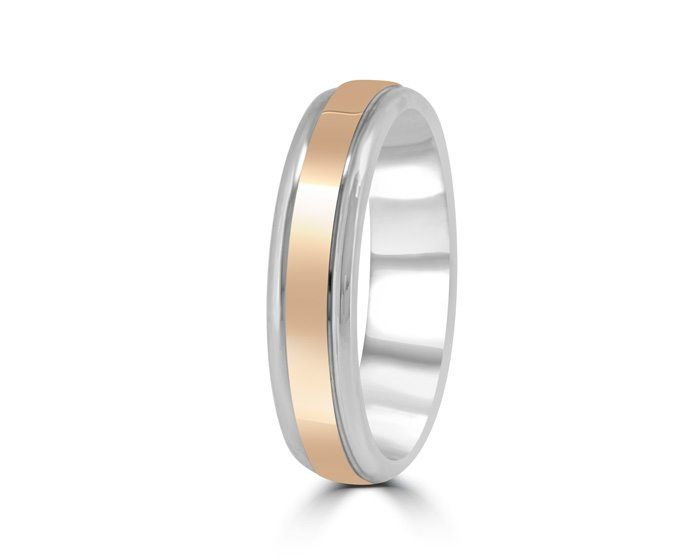 gents wedding ring bespoke dublin ireland bi toned rose gold palladium